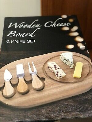 £10 • Buy New Wooden Cheese Board & Knife Set