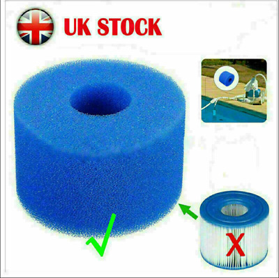 £6.99 • Buy UK24X Lay In Clean Spa Hot Tub S1 Washable Bio Foam VI LAZY Filter