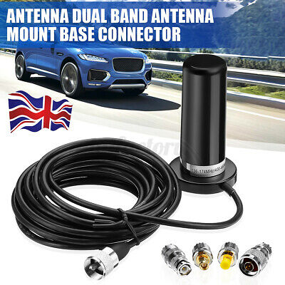 £18.98 • Buy Car Mobile Radio Dual Band VHF UHF Antenna PL259 Coaxial Cable Magnetic Mount UK