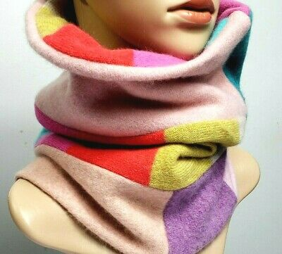 £19.99 • Buy # 100% Pure Cashmere Shawl Snood Cowl Colorfull Double Thick Gift 158