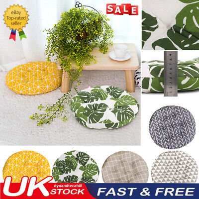 £6.49 • Buy UK Nordic Cotton Round Cushions Dining Seat Chair Thick Pads Garden Floor Pillow