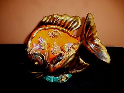 £24.99 • Buy Large Vintage French Vallauris Fish Lamp