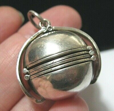 £95 • Buy Sterling Silver Fob Book LOCKET Pendant Victorian Style English Hallmarked LARGE