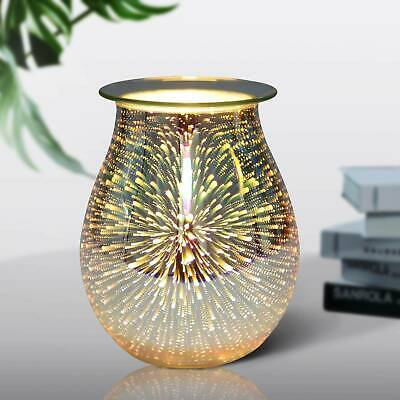£11.19 • Buy 3D Glass Electric Firework Oil Wax Melt Burner Home Fragrance Aroma Touch Lamp