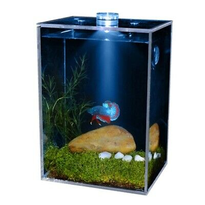 £28.94 • Buy Fish Tank Ultra Transparent Clear Fish Bowls Square Aquarium With Landscaping