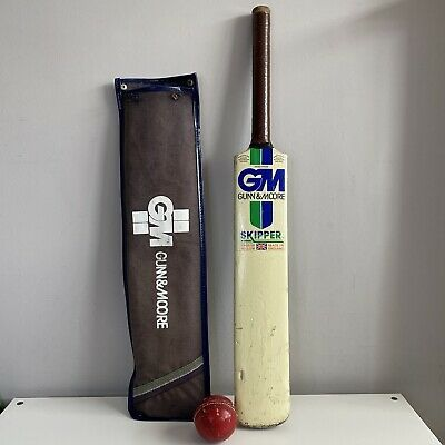 £79.99 • Buy Cricket Bat,Gunn And Moore, Skipper GM English Willow Size 4 AND Ball + Cover