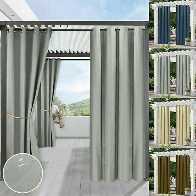 £25.19 • Buy Waterproof Curtains Outdoor Pergola Patio Stain Proof Thermal Insulated Drapes