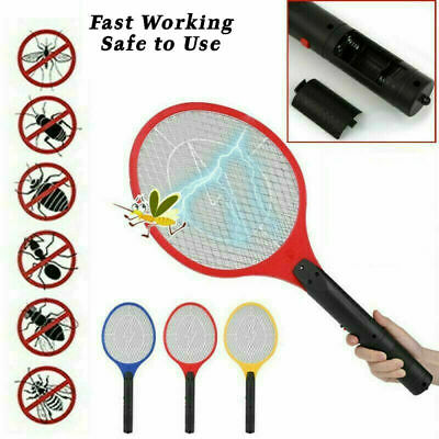 £6.37 • Buy Electric Fly Insect Racket Zapper Killer Swatter Bug Mosquito Wasp Electronic