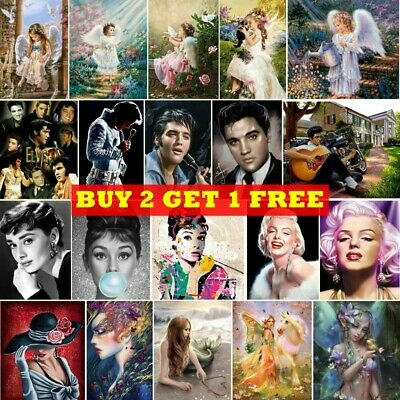 AU14.99 • Buy 5D Full Drill Diamond Painting Art Embroidery Cross Stitch Kit Actor Mural Home
