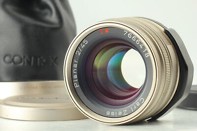 $ CDN487.21 • Buy [Almost MINT W/ Hood ] Contax Carl Zeiss Planar 45mm F/2 T* For G1 G2 From JAPAN
