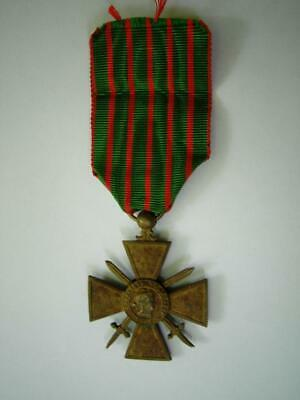 £19.99 • Buy WWI French Bronze Medal Croix De Guerre Military Bravery 1914 1917 France