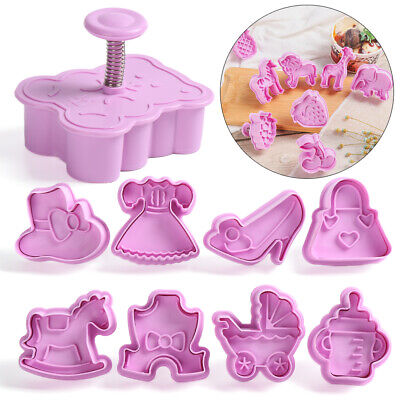 £2.73 • Buy Press Mould Cake Tool Plunger Cookie Cutter Biscuit Mold Christmas Parent-child