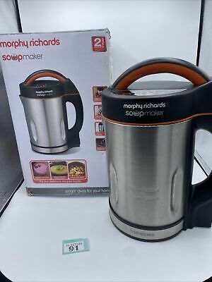 £17.99 • Buy Morphy Richards 48822 1.6L Soup Maker Great Condition Fully Working Bargain!