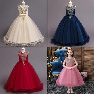 £22.32 • Buy Toddler Kids Girls Dress Ball Gowns Summer Birthday Party Formal Dress Clothes