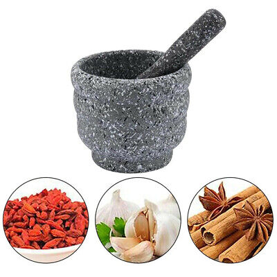 £6.94 • Buy Mortar And Pestle Stone White Set Classic Pestal Natural Spice Herb Pill Grinder