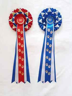 £2.50 • Buy Large Best In Show And Reserve BIS Rosettes, Dog Show Rosettes, Can Personalise