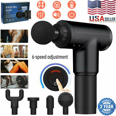$25.59 • Buy US Massage Gun Percussion Massager 6 Speed Deep Tissue Muscle Vibrating Relaxing