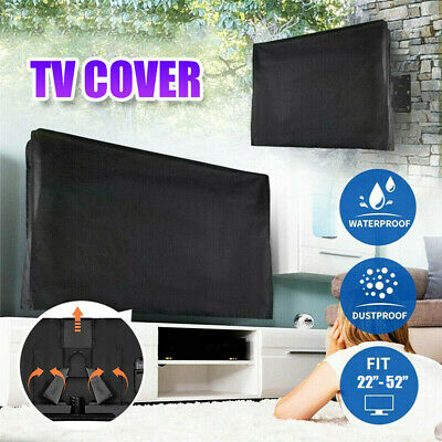 £16.55 • Buy Waterproof Black Outdoor TV Cover LCD LED Television Television Protector