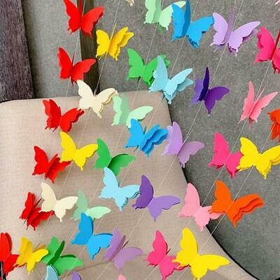 £1.28 • Buy 3D Paper Festival Hanging Decor Butterfly Garland Bunting Wedding Party Birthday
