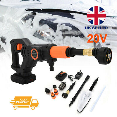 £60 • Buy Cordless Electric Pressure Washer Jet Wash Patio Car Cleaner Rechargable Battery