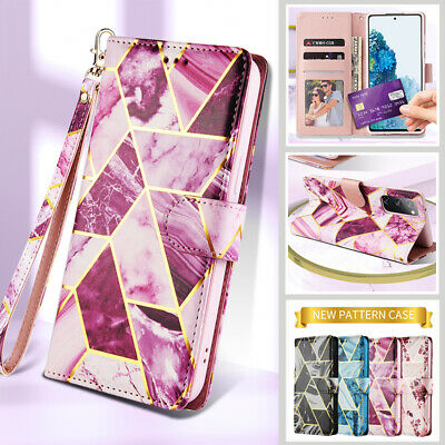 AU14.99 • Buy For Samsung S21 S20 FE Ultra S10 S9 8 Plus Marble Leather Wallet Case Flip Cover