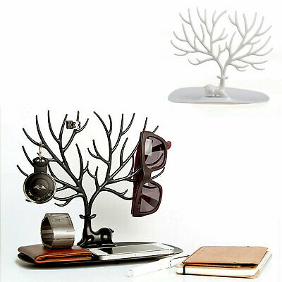 £4.89 • Buy UK Jewelry Tree Stand Display Organizer Necklace Ring Earring Holder Show Rack