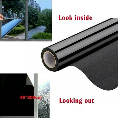 £8.05 • Buy 1Roll Reflective One Way Mirror Film Mirrored Privacy Sticky Glass Tint