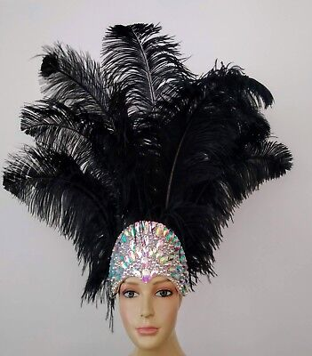 £83.65 • Buy New Prime Ostrich Plumes Feather Carnival  Headdress- Showgirl