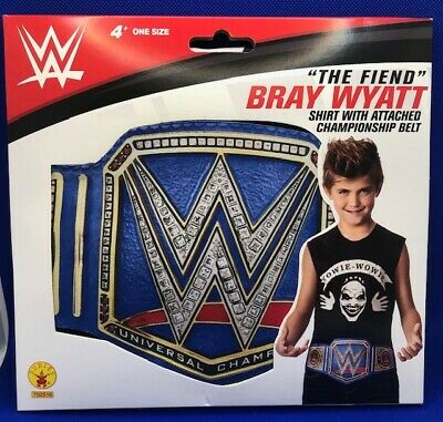 £9.29 • Buy WWE Kids Costume Top Shirt  THE FIEND  Bray Wyat With Attached Championship Belt