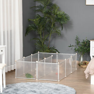 £34.99 • Buy PawHut Pet Playpen DIY Small Animal Cage Fence 12 Panels For Kitten Bunny Chinch