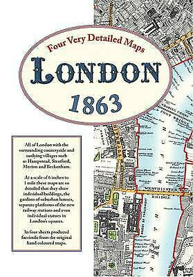 £25 • Buy London Street Maps 1863 By Edward Stanford. Pack Of 4 Reprints [ublished In 2009