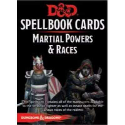 AU26.74 • Buy D&D RPG 5th Ed - Revised Spellbook Cards Martial Powers And Races Deck