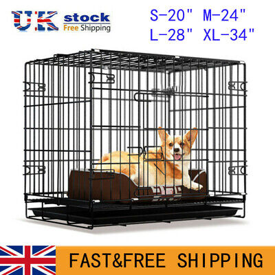 £40.99 • Buy Metal Dog Cage Puppy Pet Crate Carrier - Small Medium Large S M L XL Metal Cage