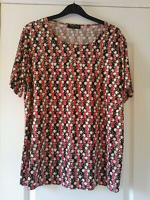 £4.50 • Buy ** Bnwot ** Forever By Michael Gold Brown/pink Short Sleeve Top Size Xl 18 Uk