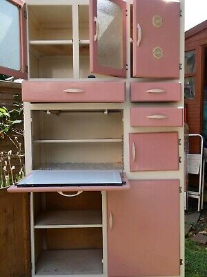 £200 • Buy Pink Retro 1950/60s Style Kitchen Cabinet