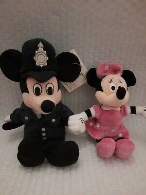 £8.99 • Buy Mickey Mouse Policeman Soft Toy Bean Bag Beanie Disney Store