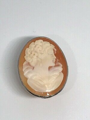 $49.99 • Buy New M+M Scognamiglio Sterling Italy 30mm Carved Cameo Ring RARE Size 5