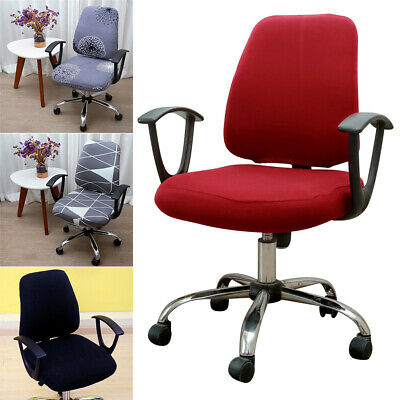 AU13.99 • Buy Removable Elastic Office Swivel Chair Covers Flexible Office Armchair Slipcovers
