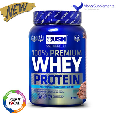 £21.99 • Buy USN Core 100% Premium Whey Protein Concentrate + Isolate BCAA 908g |UK STOCK