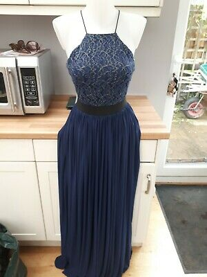 £9.99 • Buy Womens Prom/evening Dress Size 10 In Navy