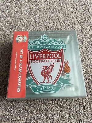 £18.99 • Buy Liverpool FC 4 Glass Coasters