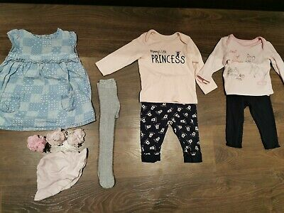£1.99 • Buy Baby Girls Clothes Bundle 9-12 Months - DISNEY, MOTHERCARE, GEORGE