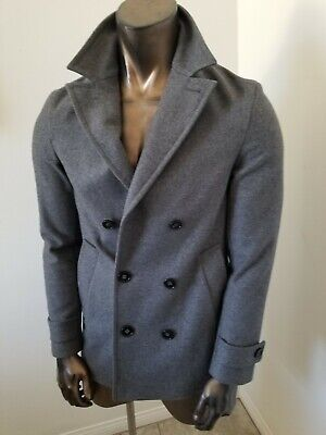 $555 • Buy BURBERRY London Stunning Double Breasted Pea COAT - Worn Once - SIze M