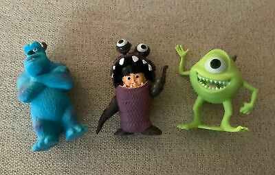 £5.66 • Buy 3pcs/set Monsters INC. Mini Figures/ Cake Toppers Mike, Boo, Sulley