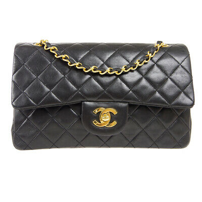 £2719.36 • Buy CHANEL Classic Double Flap Small Chain Shoulder Bag 1462167 Black Lambskin 90884