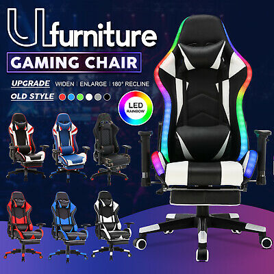 AU159.90 • Buy Gaming Chair 180° Recliner Executive Office Computer Racer Chair W/Footrest