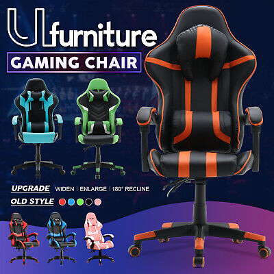 AU119.90 • Buy Ufurniture Gaming Executive Chair Office Recliner Computer Racer PU Leather Seat