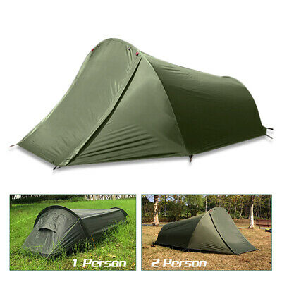 AU71.99 • Buy Outdoor Lightweight Camping Tent 1/2 Person Sleeping Bag Beach Hiking Bivy Tent