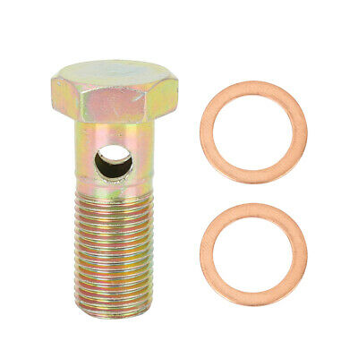 $8.99 • Buy M16x1.5mm Metric Thread Banjo Bolts Brake Fitting Adapter With M16 Washers