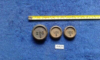 £7.99 • Buy Vintage Cast Iron Scale Weights X 3